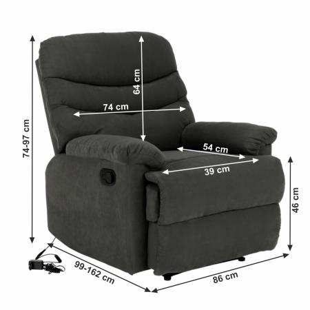 Fotoliu recliner masaj LAMBERT1