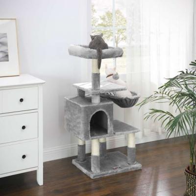 Ansamblu de joaca pentru pisici cu hamac si pestera PCT52W3