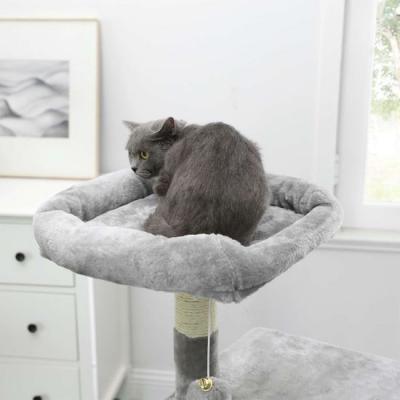 Ansamblu de joaca pentru pisici cu hamac si pestera PCT52W5