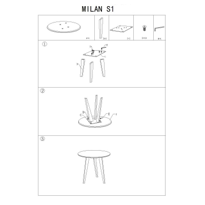 Masa cafea SL Milan S1 alb - stejar