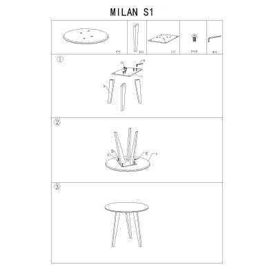 Masa cafea SL Milan S1 gri - stejar1