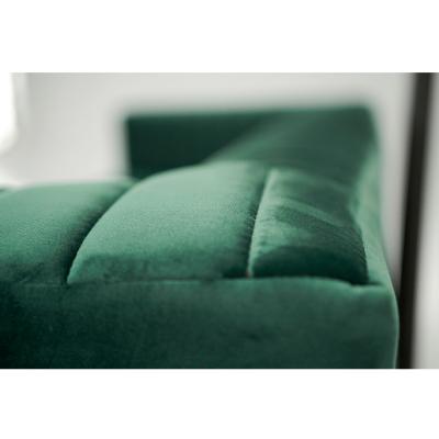 Canapea velvet cu 2 locuri verde smarald SOMY 2 [4]