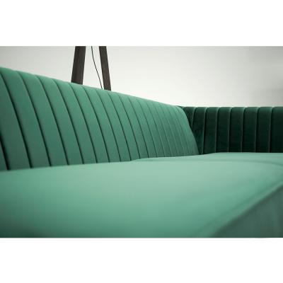 Canapea velvet cu 2 locuri verde smarald SOMY 2 [3]