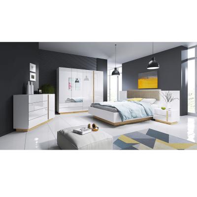 Set dormitor complet culoare alb/stejar CITY0