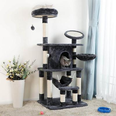 Ansamblu de joaca pentru pisici cu multiple nivele PCT25G3