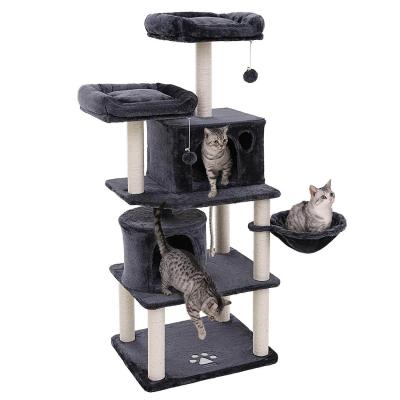 Ansamblu de joaca cu doua paturi si doua case pentru pisici PCT90G0