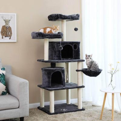 Ansamblu de joaca cu doua paturi si doua case pentru pisici PCT90G1