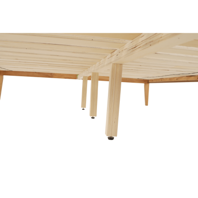 Pat lemn tablie tapitata 160x200 NOLAS [2]