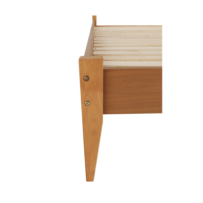 Pat lemn tablie tapitata 160x200 NOLAS [4]