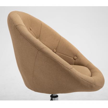 Fotoliu rotativ crom material textil KONOR4