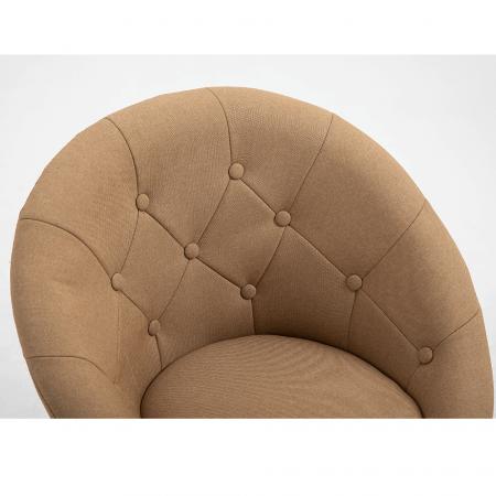 Fotoliu rotativ crom material textil KONOR5