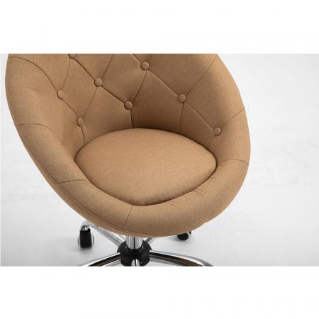 Fotoliu rotativ crom material textil KONOR6