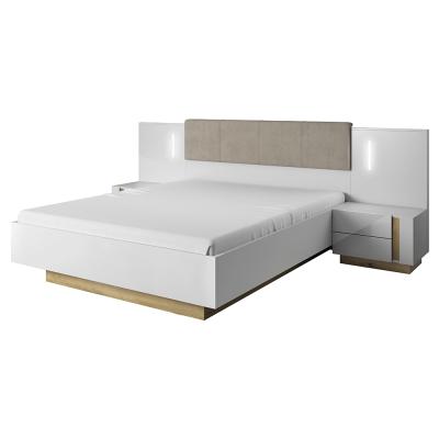 Set dormitor complet culoare alb/stejar CITY2