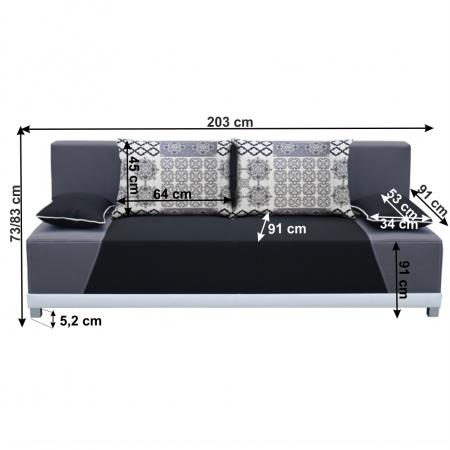 Canapea extensibila cu perne ROKAR1