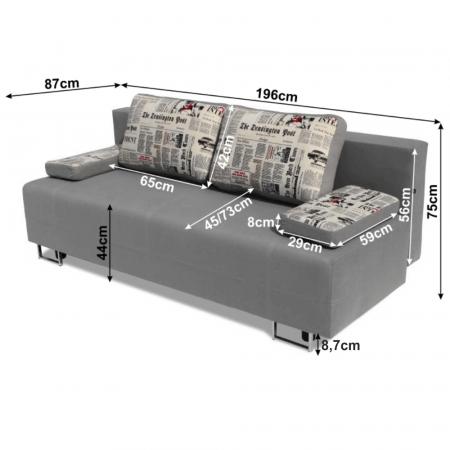 Canapea extensibila cu spatiu depozitare ELIZE1