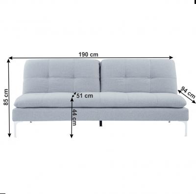Canapea extensibila gri deschis HERMA5