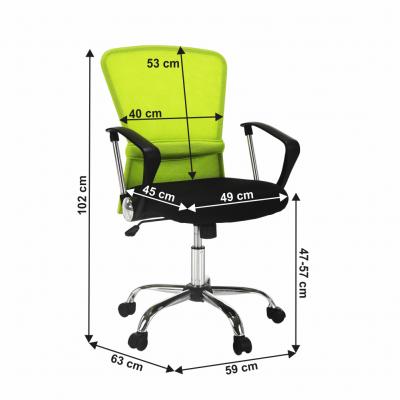 Scaun de birou rotativ tapitat AEX [3]