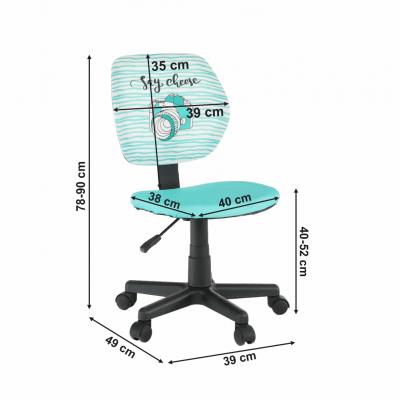 Scaun de birou rotativ tapitat BLUES3
