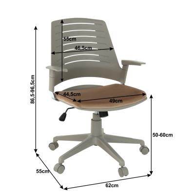 Scaun de birou rotativ tapitat DARIUS [3]