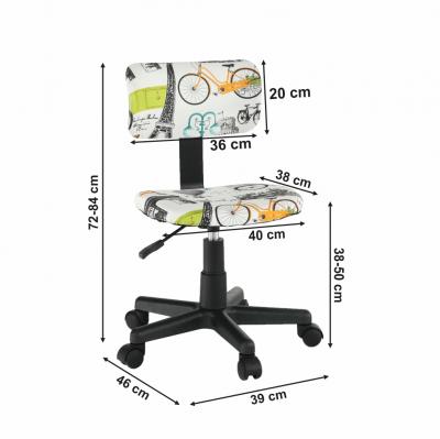 Scaun de birou rotativ tapitat KIDS3