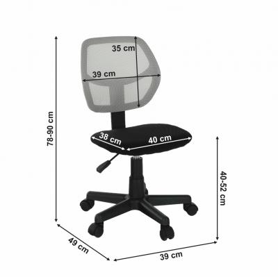 Scaun de birou rotativ tapitat MESH [3]