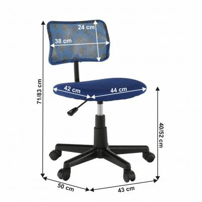 Scaun de birou rotativ tapitat PERCY [3]