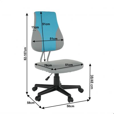 Scaun de birou rotativ tapitat RANDAL [2]