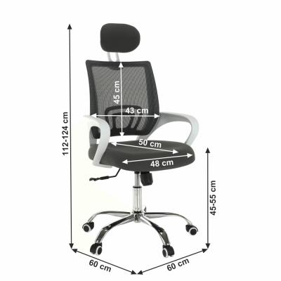 Scaun de birou rotativ tapitat SANAZ TYP 13