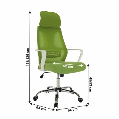 Scaun de birou rotativ tapitat TAXIS [3]