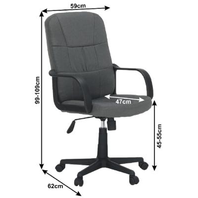 Scaun de birou rotativ tapitat TC3-7741 New [3]