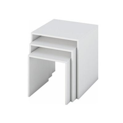 Set de 3 masute auxiliare albe SIPANI0