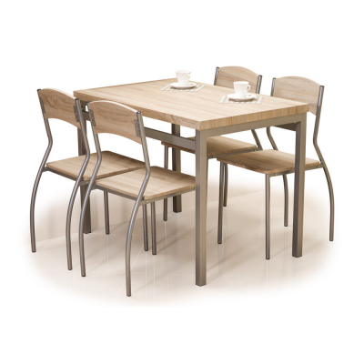 Set masa cu 4 scaune SL Astro stejar sonoma2