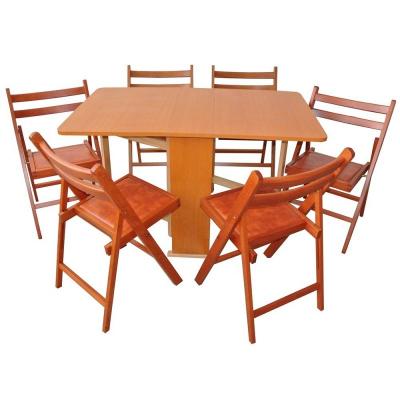Set masa pliabila Practic cires cu 6 scaune0