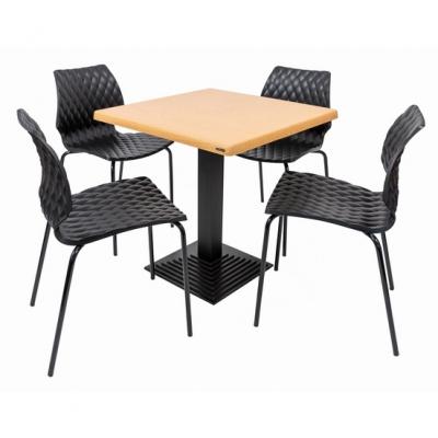 Set terasa outdoor masa BOSTON OAK 70x70 cu scaune UNI 550 [0]