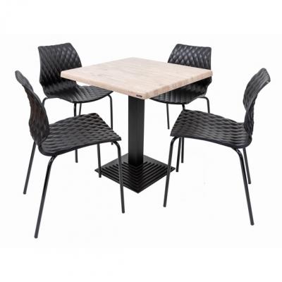 Set terasa outdoor masa BOSTON WASHINTON PINE 70x70 cu scaune UNI 550 [0]