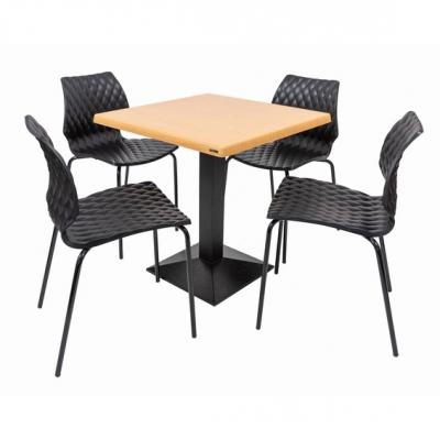 Set terasa outdoor masa CARDIFF OAK 70x70 cu scaune UNI 5500