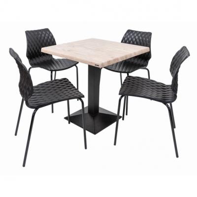 Set terasa outdoor masa CARDIFF WASHINGTON PINE 70x70 cu scaune UNI 5500
