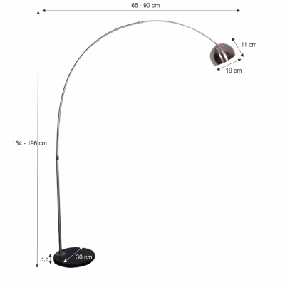 Lampa de podea semicerc CINDA TYP 15 F1034-S1