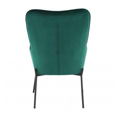 Fotoliu tapitat metal verde smarald SURIL6
