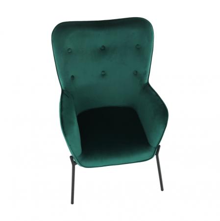 Fotoliu tapitat metal verde smarald SURIL4