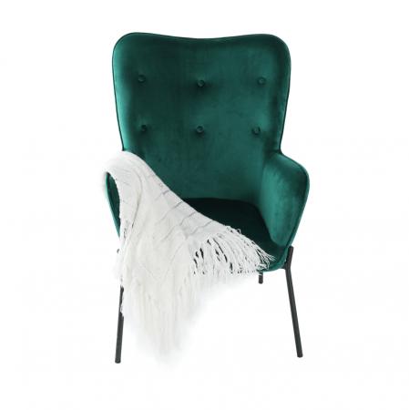 Fotoliu tapitat metal verde smarald SURIL13