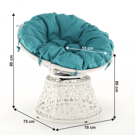 Fotoliu rotativ perna impermeabila TRISS1