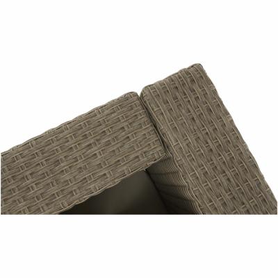 Set de gradina din 2 piese tehno-rattan maro / bej TUDUR [9]
