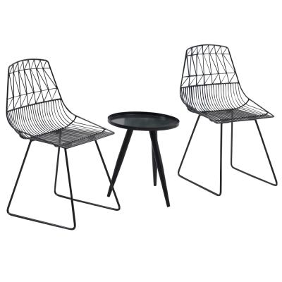 Set de gradina masa 2 scaune negru SAHIR [0]