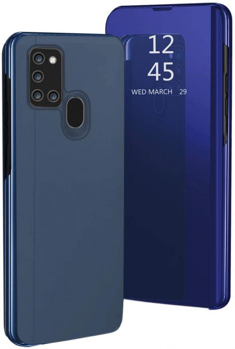 Husa Samsung Galaxy A21S – Flip Clear View – Albastru [0]