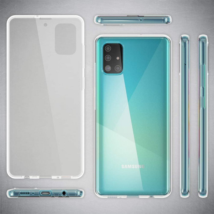 Husa Samsung Galaxy A51 Silicon TPU 360 grade (fata - spate) - transparent [1]