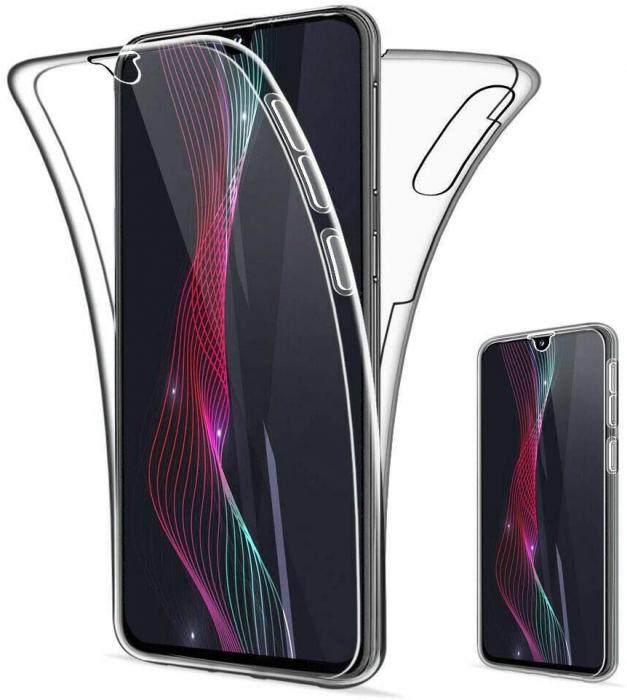 Husa Samsung Galaxy A20E Silicon TPU 360 grade (fata - spate) - transparent [0]