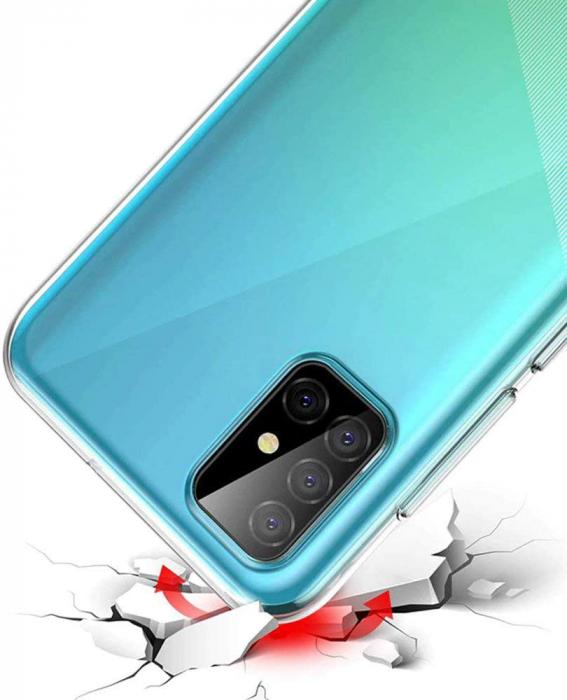 Husa Samsung Galaxy A51 Silicon TPU 360 grade (fata - spate) - transparent [2]