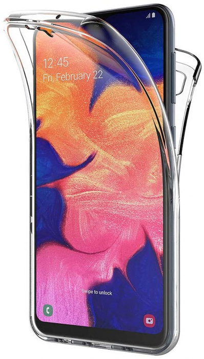 Husa Samsung Galaxy A10 Silicon TPU 360 grade (fata - spate) - transparent [0]