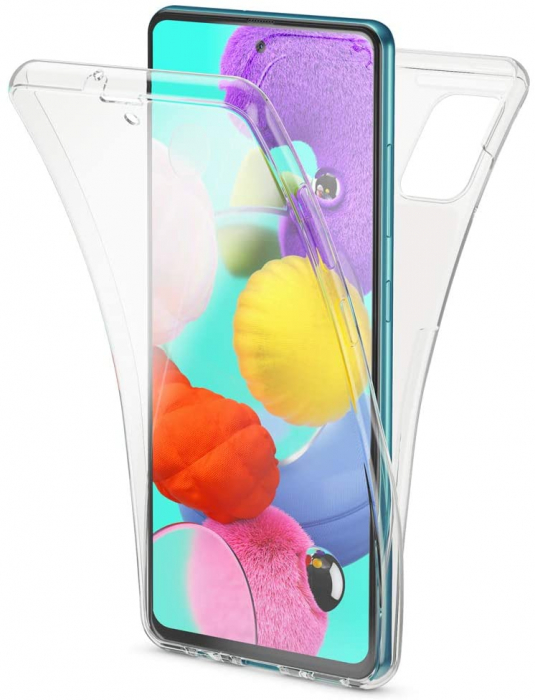 Husa Samsung Galaxy A51 Silicon TPU 360 grade (fata - spate) - transparent [0]